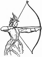 Archery Clipart Clip Archer Bow Woman Coloring Pages Bows Hunting Arrows Shooting Odyssey Arrow Draw Odysseus Drawings Resource Tattoo Cool sketch template