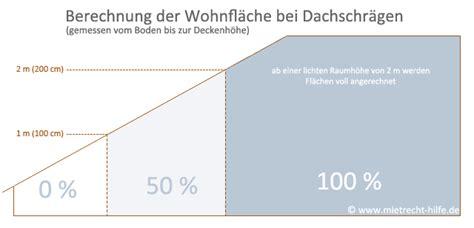 Wohnfläche Berechnen Dachschräge by Berechnung Wf