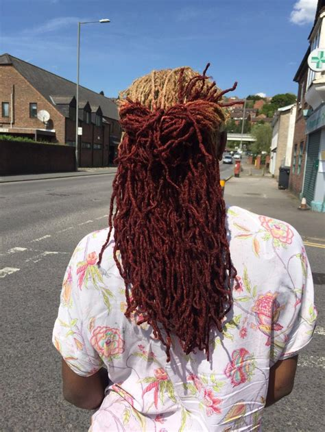 coloured locs blonde  red natural hair pinterest