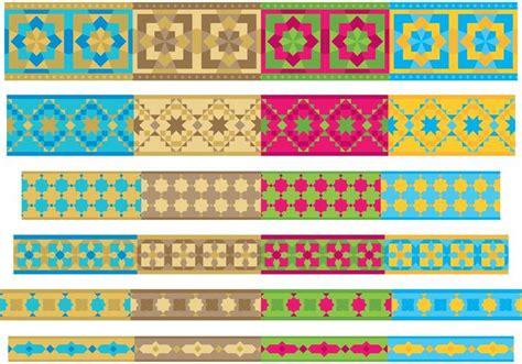 moroccan design tiles morocco border vectors free vector stock