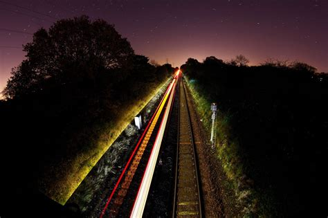 long exposure train photography light trails hd