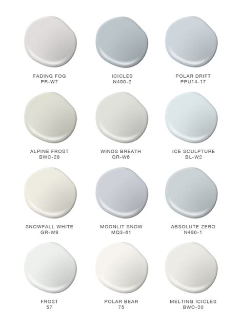 colorfully behr color of the month winter whites