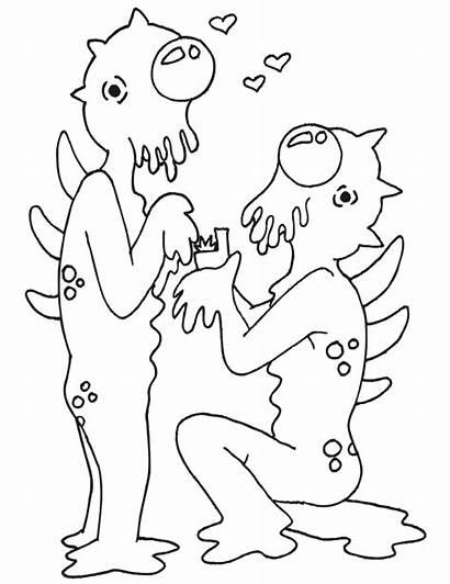 Coloring Weird Amor Colorear Dibujos Alien Aliens