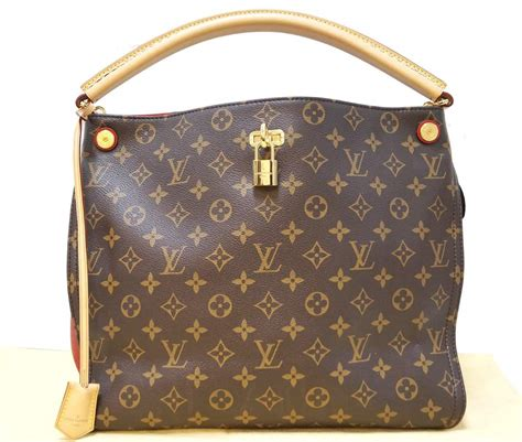 authentic louis vuitton monogram canvas cerise gaia red shoulder bag