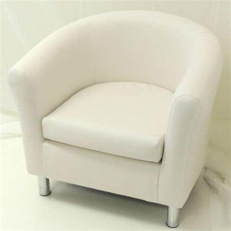 white faux leather tub chair chrome legs tubs chairs