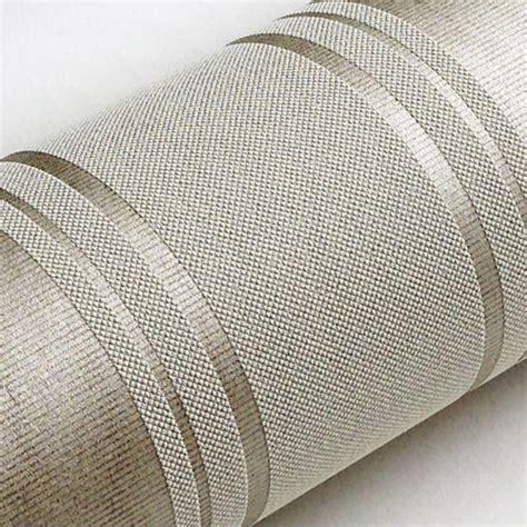modern silver grey horizontal stripes wallpaper papel de