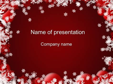 red winter powerpoint template big apple templates