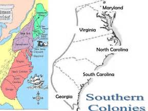 Southern 13 Colonies Map