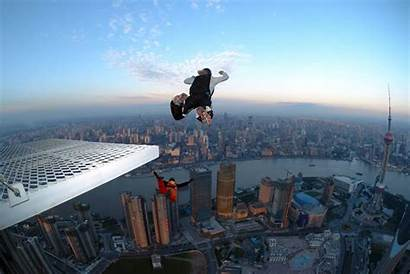 Extreme Sport Jumping Base Dangerous Statistically Jump