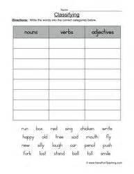 free parts of speech worksheets the noun verb sort free homeschool writing pinterest