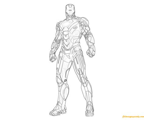 the avengers iron man coloring page free coloring pages