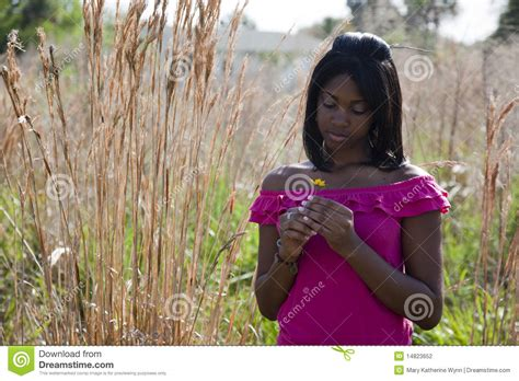 African American Teen In Nature Stock Photo Image Of Contemplation Outdoor