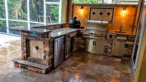 how to install a backsplash in kitchen creative outdoor kitchens beautiful stonework outdoor