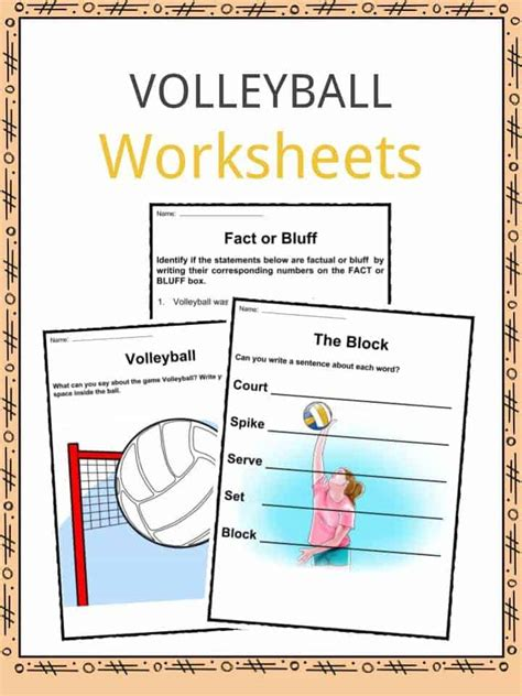 volleyball facts worksheets history   sport  kids