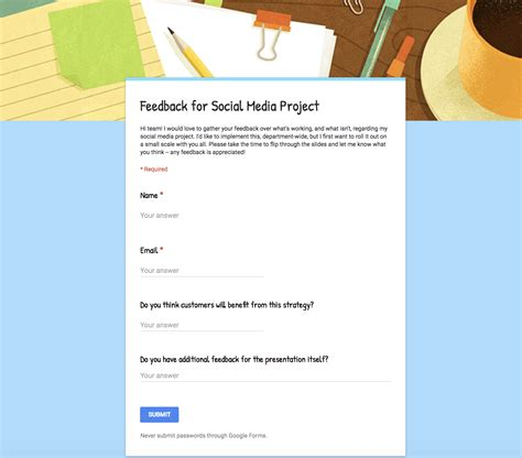 super simple   create   google forms templates