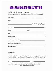 awesome school registration form template component With dance school registration form template free