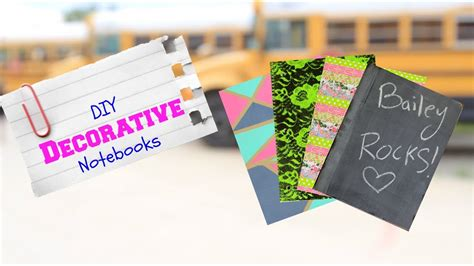 diy decorative notebooks   school supplies youtube