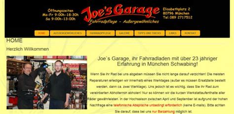 Joes Garage  Fahrradwerkstatt München