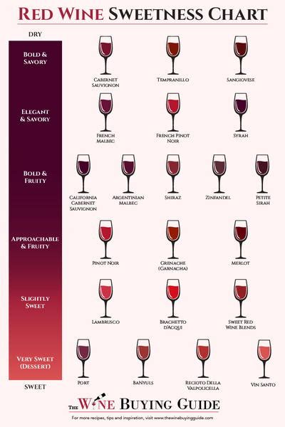 light red wine for beginners red wine sweetness chart thewinebuyingguide com
