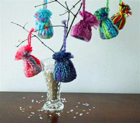 warm   home winter decorations  knit hat ornaments