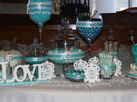 tiffany buffet table ls tiffany blue candy buffet wedding ideas pinterest