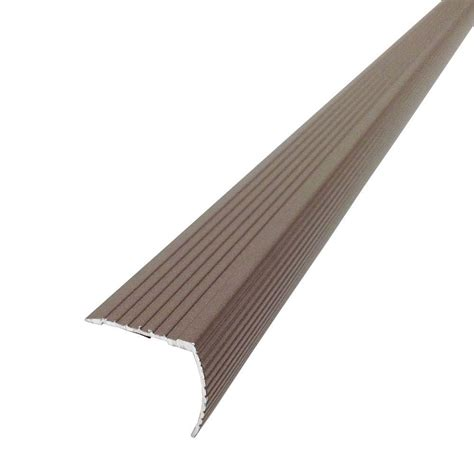 stair edging home depot m d building products cinch 1 22 in x 36 in spice fluted stair edging transition strip 43311