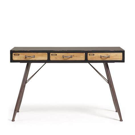 vintage console table console industrielle en bois et m 233 tal 3 tiroirs refe par 3176