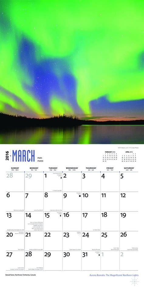 aurora borealis magnificent northern lights calendars