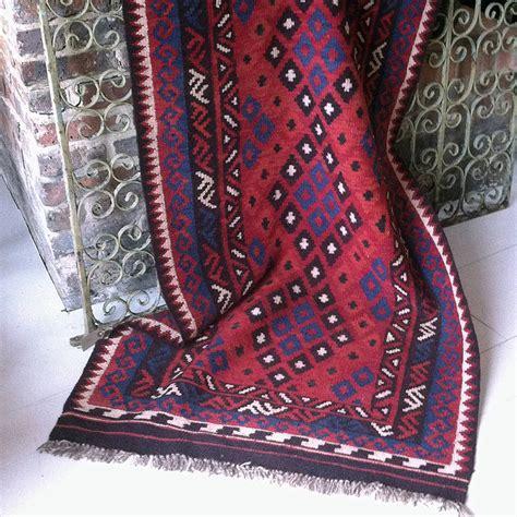 Maimana Kilim Rugs by Hand Woven Wool Maimana Kilim Rug By Hunter Jones Vintage