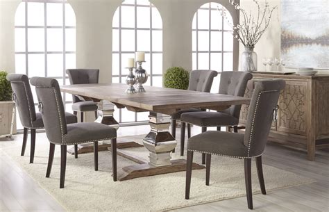 grey wash dining table manor gray wash extendable dining table 6095 stl gw 4096