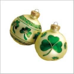 irish christmas ornament box set irish shamrock christmas ornament set