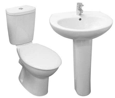 two bathroom suite basin pedestal two bathroom suite basin pedestal pan cistern and toilet seat ebay