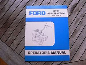 Ford Tractor Rtt5 Rear Tine Tiller Owner Operator Manual