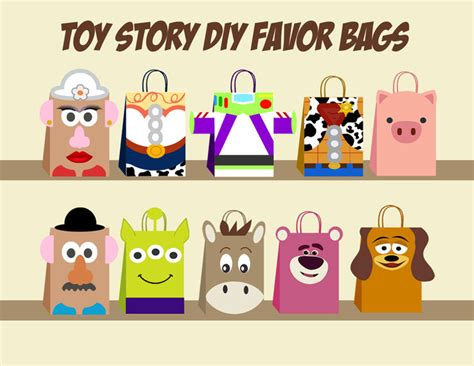toy story diy favor bag template toy story