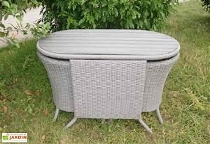 Salon Jardin Encastrable : salon jardin encastrable r sine tress e 2 places gris dcb garden ~ Maxctalentgroup.com Avis de Voitures