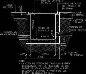 Tanquilla 60x60 Concrete Lid DWG Block for AutoCAD