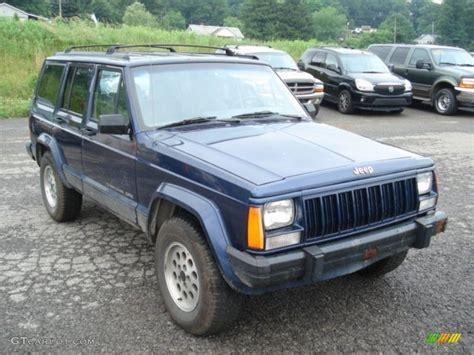 jeep dark blue dark blue pearl 1996 jeep cherokee sport 4wd exterior