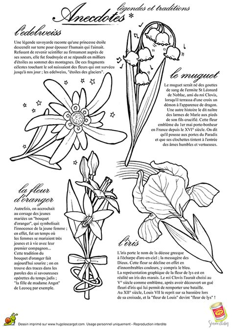 coloriage legendes  traditions anecdotes fleurs
