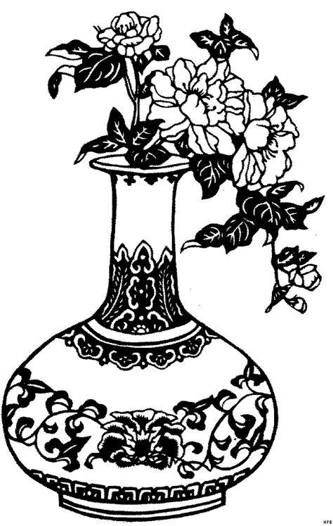 vase blumen ausmalbild malvorlage blumen