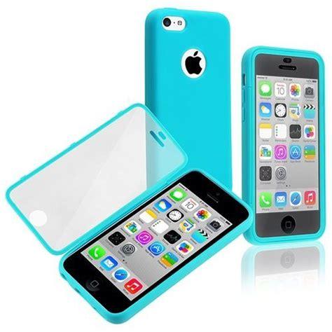 bleu pochette housse coque avec protection ecran transaprent pour iphone 5c