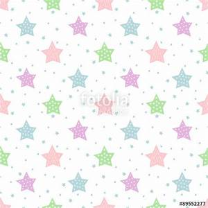 """""""Seamless star pattern for kids holidays. Pastel colors ..."""