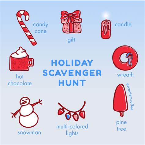 Join us as we do a review of what made scooter's coffee a. Holiday Scavenger Hunt