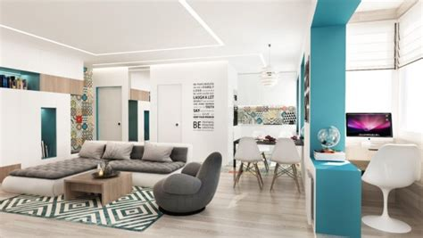 4 Small Studio Apartments Decorated In 4 Different Styles All 50 Square Meters With Floor Plans by 4 Fabulously Stylish Studio Apartments