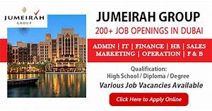 Latest Jobs at Jumeirah Group - August 2018| Apply Now