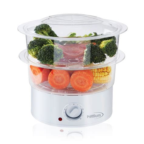 Premium Appliances   Double Tiered Electric Steamer