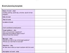 event plan template emmamcintyrephotographycom