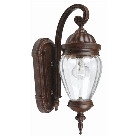 portfolio antique rust outdoor wall light lowe s canada