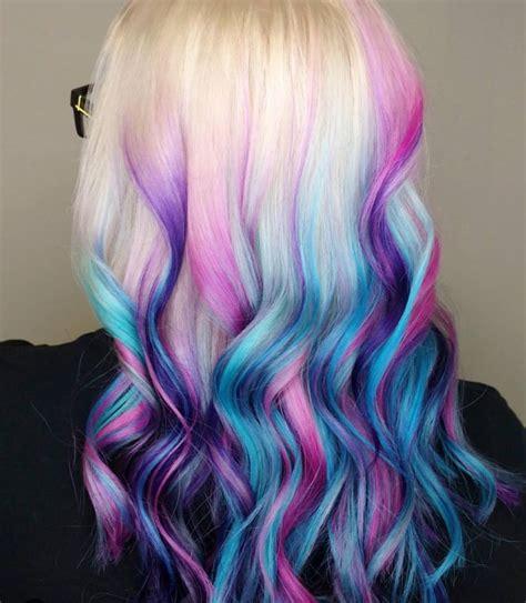 Colorful Dip Dye Hair Beautiful Hair Pinterest Dip