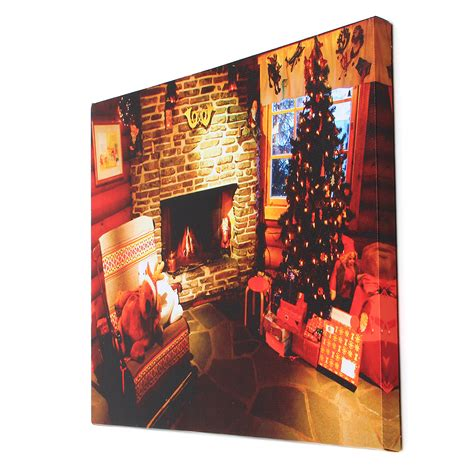 My main aim to teach u guys that how u can make decoration pieces without. 40 x 30cm Operated LED Home Christmas Decor Tree Xmas Canvas Print Wall Art   Alexnld.com