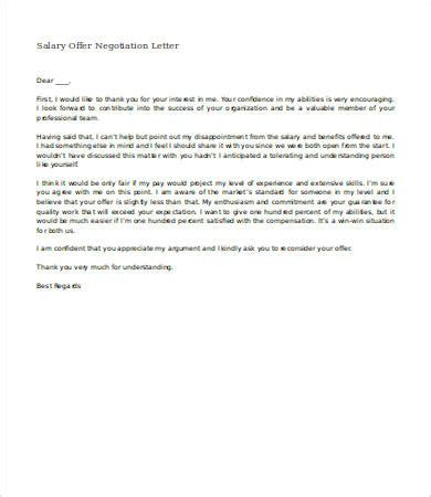 salary negotiation letter   word documents